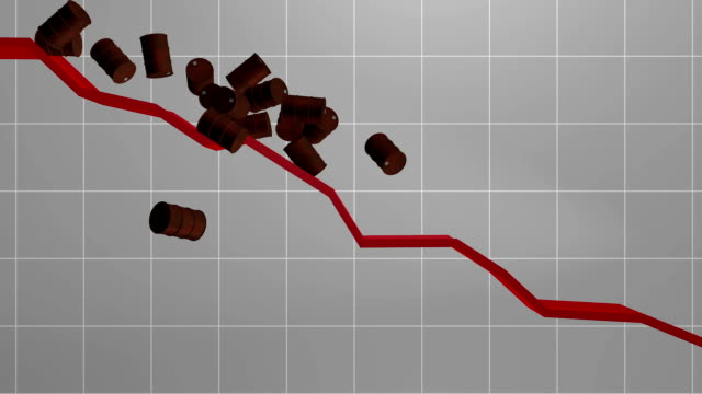 Falling oil price Symbolic representation of the falling oil price price stock videos & royalty-free footage
