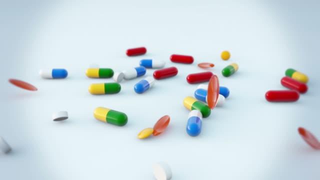 Falling Pills Slow Motion video