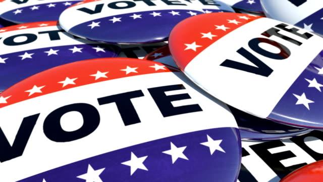 falling ピンに投票テキストをします。 - 選挙点の映像素材/bロール