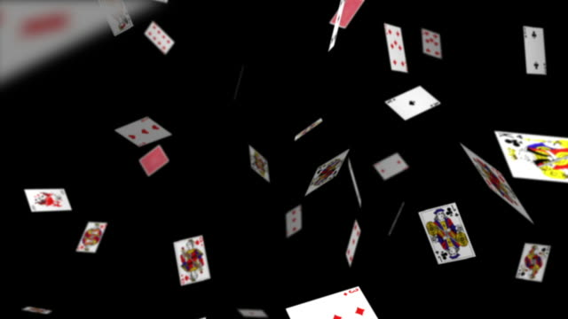 Falling Playing Cards video