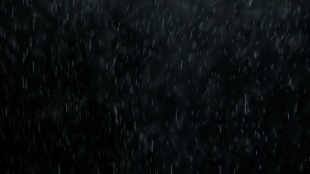 Falling Rain or Snow Against a Black Background video