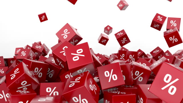 Falling red cubes with percent video