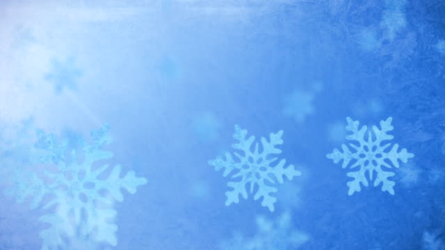 Falling Snow Flakes - Winter Background video