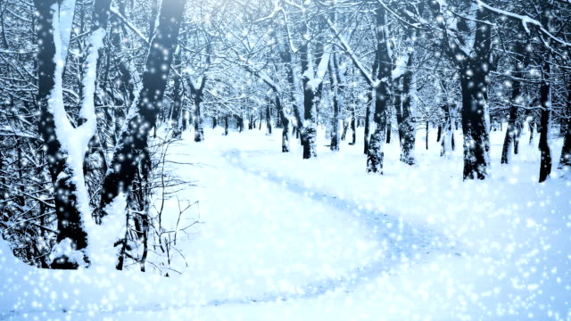 Falling snow video