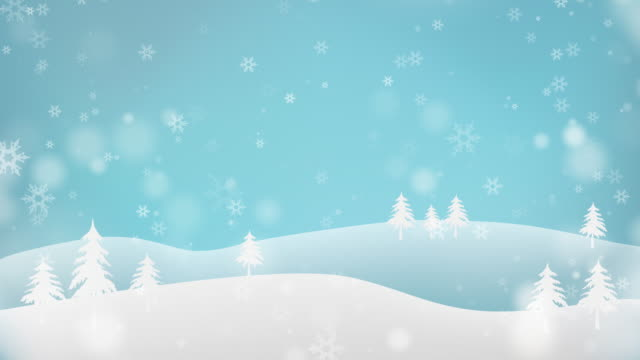 vídeos de stock e filmes b-roll de falling snow winter animation background - neve