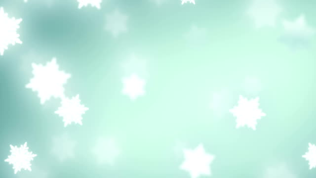falling snowflakes background video