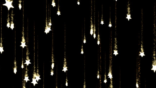 Falling Star Animation - Loop Golden