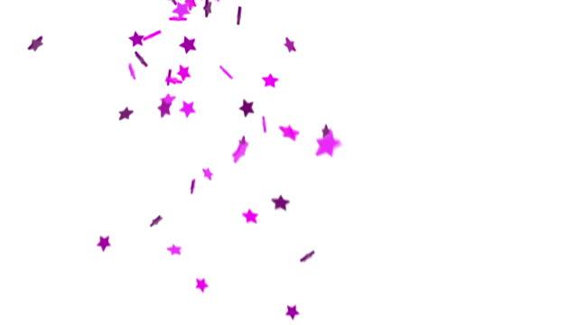 stockvideo's en b-roll-footage met falling stars background - pink (hd) - background baby