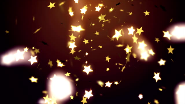 Falling stars confetti video