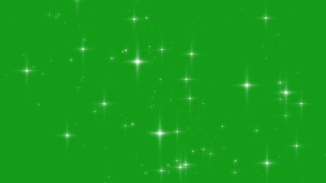 Falling stars motion graphics with green screen background