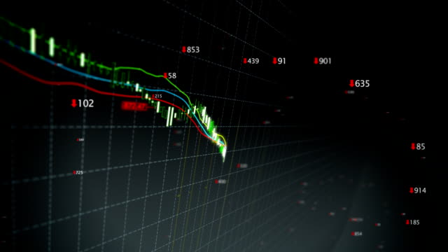 Falling stock index loop video