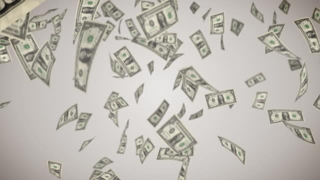 Falling U.S. Dollar Bills HD Falling U.S. Dollar Bills with perfect loop us paper currency stock videos & royalty-free footage