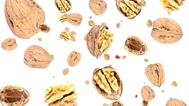Falling walnuts video