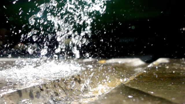 falling water from water tap
