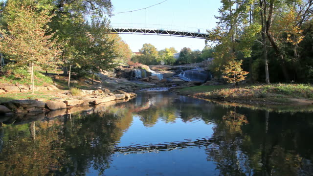 Falls Park Greenville Falls Park, located in downtown Greenville's Historic West End south carolina stock videos & royalty-free footage