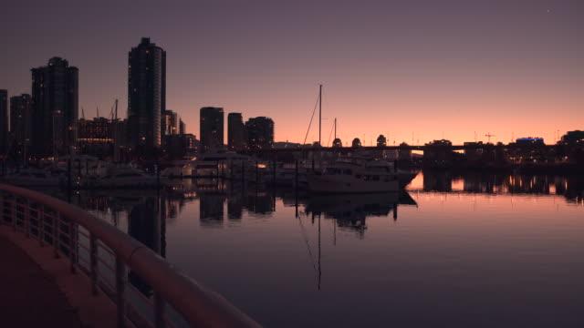 False Creek, Dawn Twilight 4K. UHD video