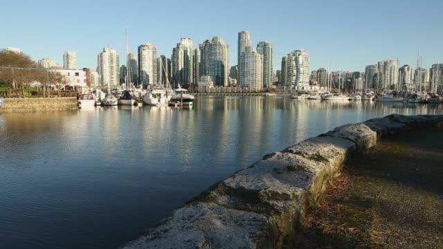 False Creek Seawall Morning, Vancouver video