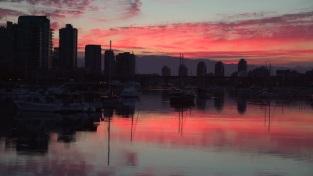 False Creek Sunrise Reflection, 4K UHD video