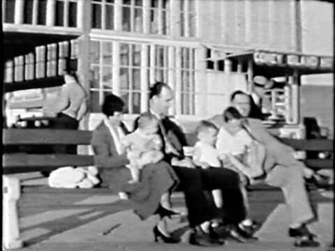 Family at Coney Island - from 1930's film video