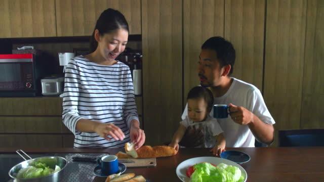 ご自宅のご家族  - 日本人のみ点の映像素材/bロール