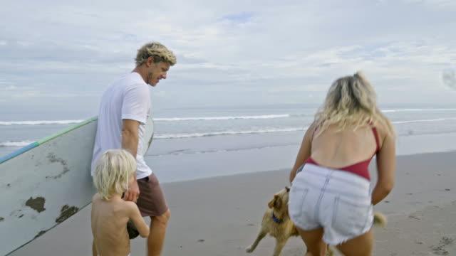 家族のビーチの散歩 - 息子点の映像素材/bロール