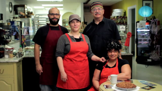 Family business, owners of a bakery video