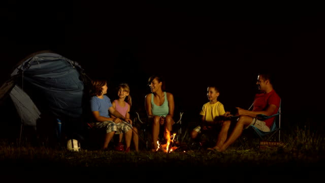 HD DOLLY Family Camping At Night Video