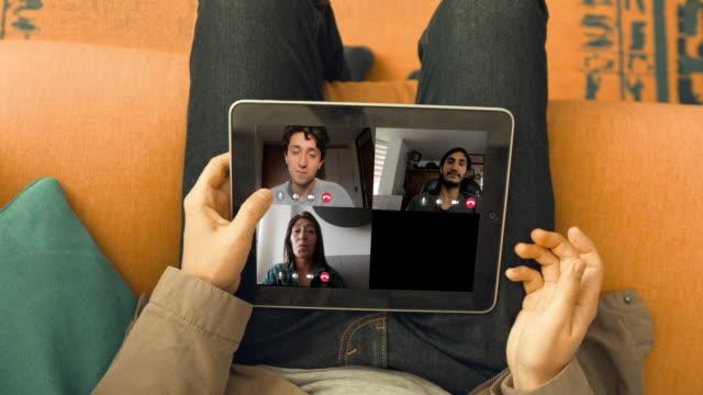 familj firar en födelsedag i karantän - birthday celebration looking at phone children bildbanksvideor och videomaterial från bakom kulisserna