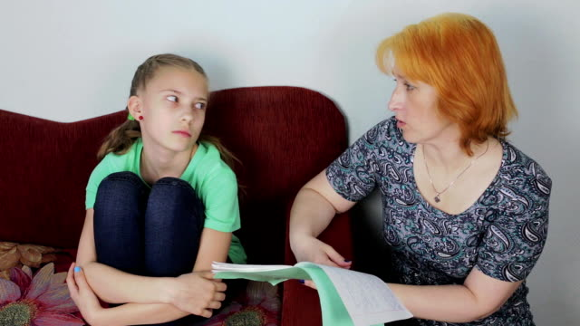 Family conflict - mother scolds daughter video