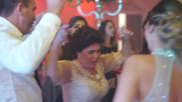 Family dancing at the wedding dance floor Family dancing at the wedding dance floor wedding stock videos & royalty-free footage