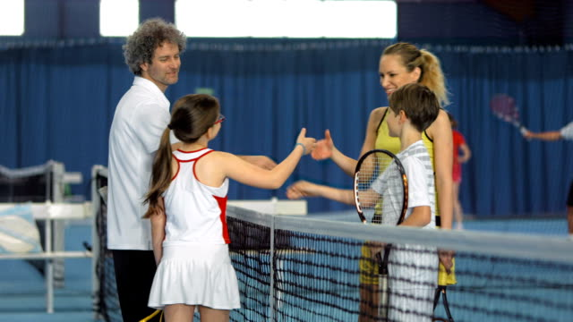 MS TU Family Doing A Team Cheer After Playing Tennis video