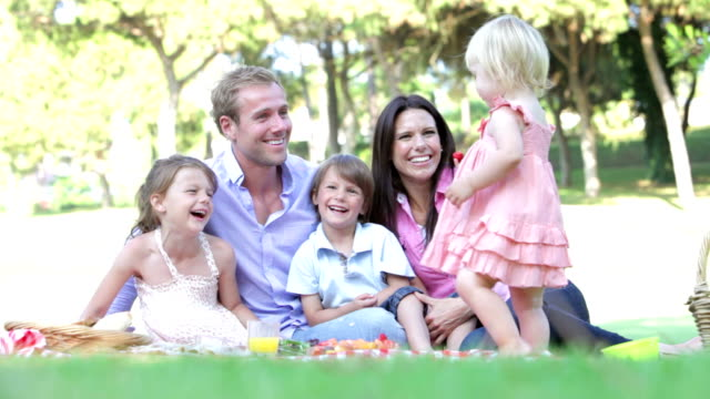 Family Enjoying Picnic Together video