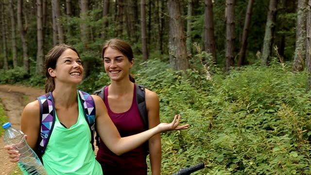 家族の妹と一緒に旅行驚くほど自然探訪 - 兄弟姉妹点の映像素材/bロール