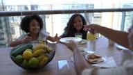 istock Family having breakfast at home 1327355244