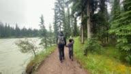 istock Family Hiking on Rainy Day, Jasper, Canada 1281521698