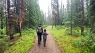 istock Family Hiking on Rainy Day, Jasper, Canada 1281521997