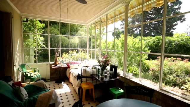 Family house balcony. Ideal home balcony video