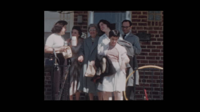 1956 Family leaving house to go on trip 1956 Family leaving house to go on trip 20th century stock videos & royalty-free footage