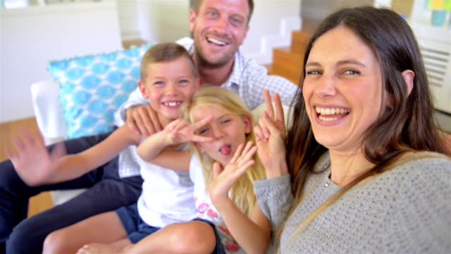 SELFIE: Family making selfie video video