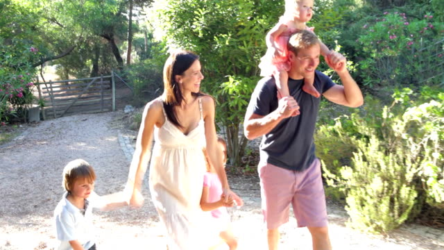 Family On Country Walk Together video