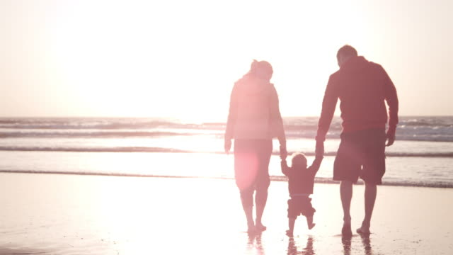 Family on the Beach video