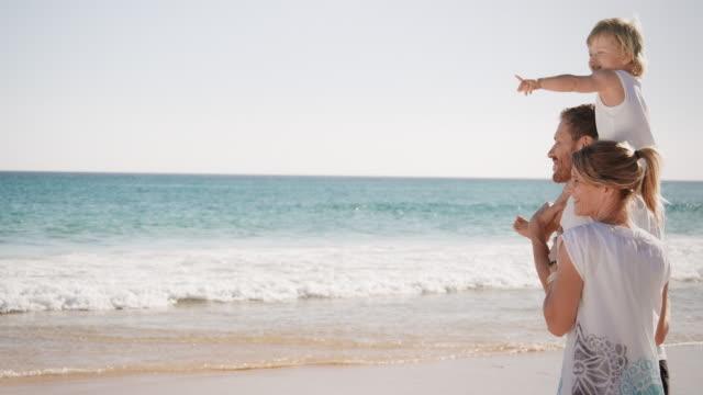 家族のビーチ - 息子点の映像素材/bロール