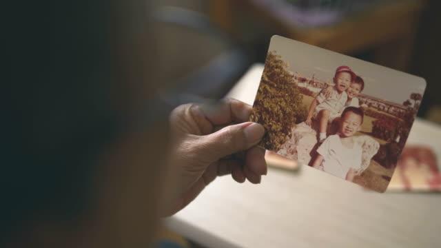 family photo album - fotografika filmów i materiałów b-roll