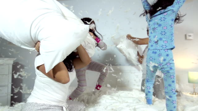 Family Pillow Fight video