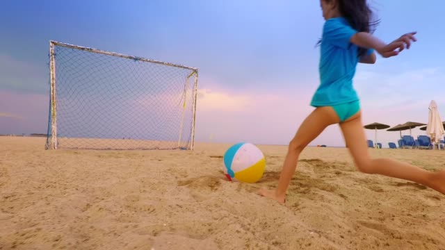 Family Playing Soccer. Greek Island Coach, Soccer - Sport, Child. girl power stock videos & royalty-free footage