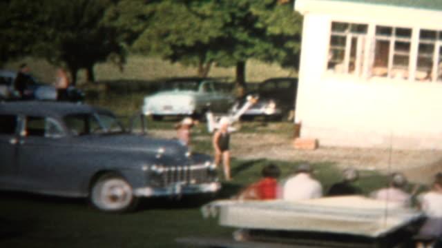 1958 - family reunion farm house - reunion stock videos & royalty-free footage
