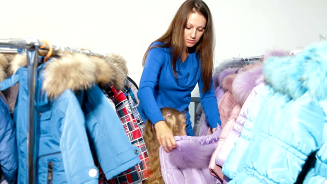 Family Shopping For Winter Clothes video