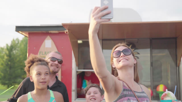 Family Takes Selfie In The Summertime video