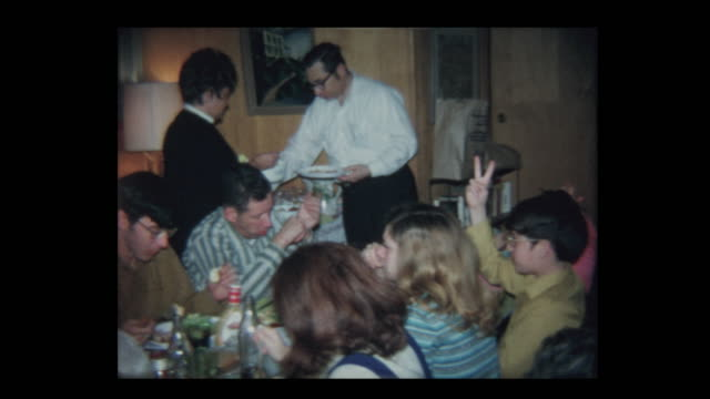 1971 Family Thanksgiving in basement Part 2