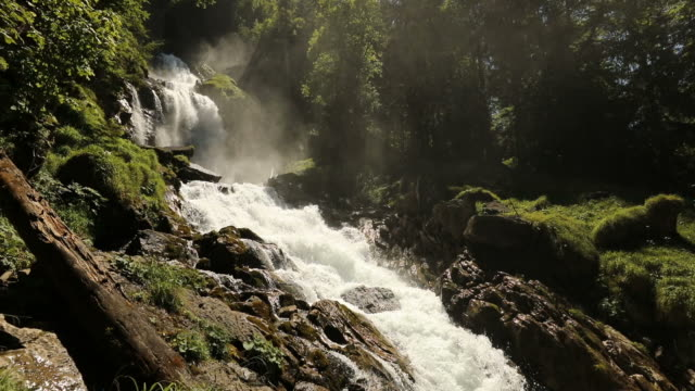 Famous and beautiful Waterfall Giessbach in Switzerland video